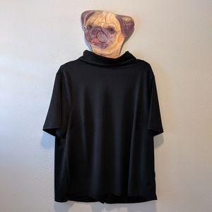 H&M Black faux turtle neck blouse